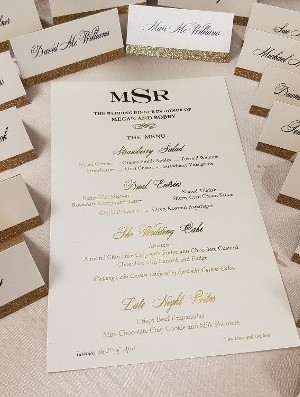 Menu Card and Place Cards