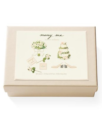 Karen Adams Marry Me Note Cards