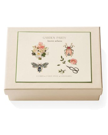 Karen Adams Garden Party Note Cards